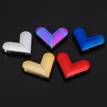 Profession Design Heart Shape Lighter Gerui JL-215V Usb Windproof Lighter