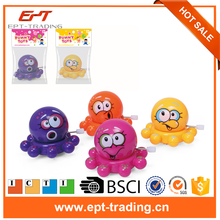 Cartoon multi-colored mini octopus plastic wind up toy for Promotion