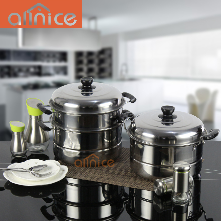 Kitchen Implements Multifunctional stainless steel cookware steamer pots