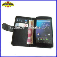 Leather wallet case for LG Nexus 4 E960,leather Purse case cover,High Quality Case Cover----Laudtec