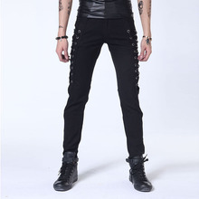 Motor biker cool men jeans new punk style boys pants jeans smart trouser manufacturers in China