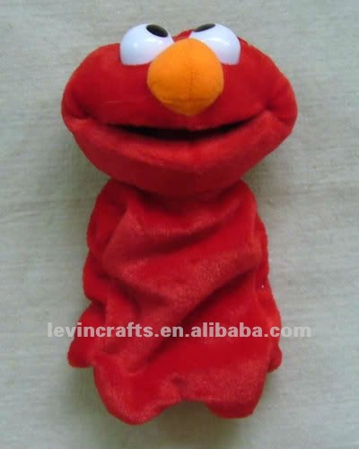 Hand Sock Puppet Elmo Preschool PLUSH TOY very cute