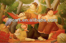 Wholesale handmade decorative pictures botero painting