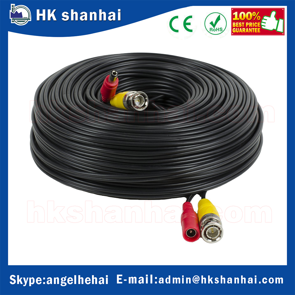 wholesale alibaba 5m 10m 20m 30m 40m long distance rg59 cctv camera video power cable bnc cctv cable