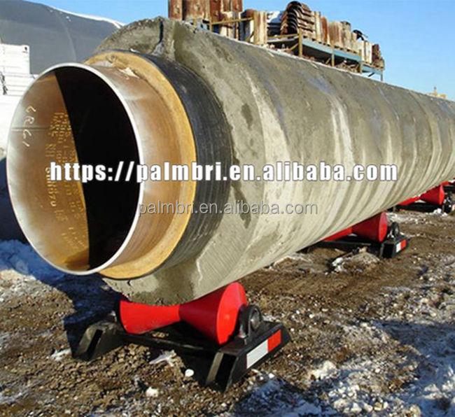 high abrasion resistance reinforced concrete coated steel pipe