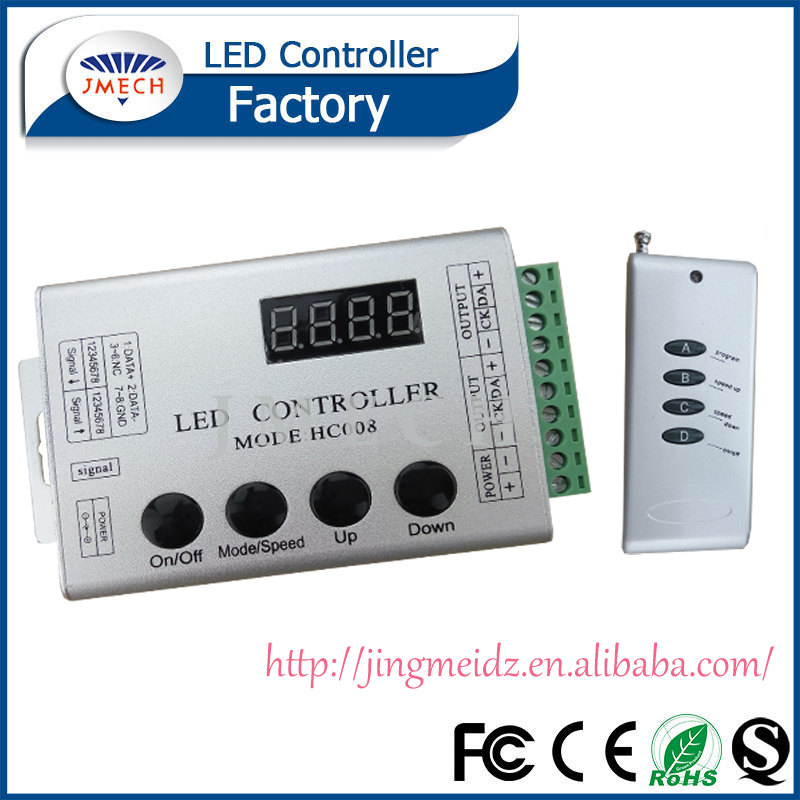 LED DMX to SPI Decoder WS2811 TM1809 led lights controller