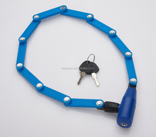 New blue motorcycle and bicycle folding lock