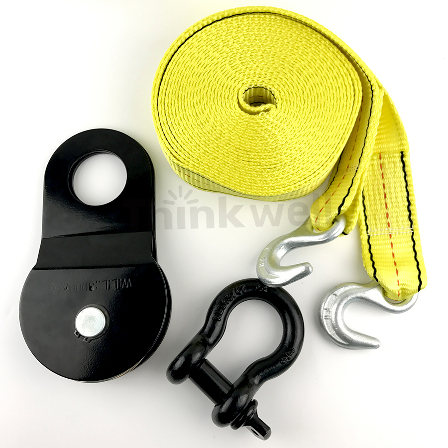 High Quality Heavy Duty Vechile Trailer 4wd Winch Recovery Snatch Block Kit