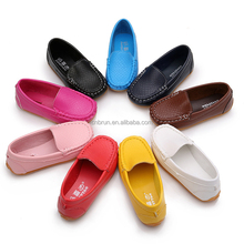 PU Leather Shoes tan beige black color For Kids