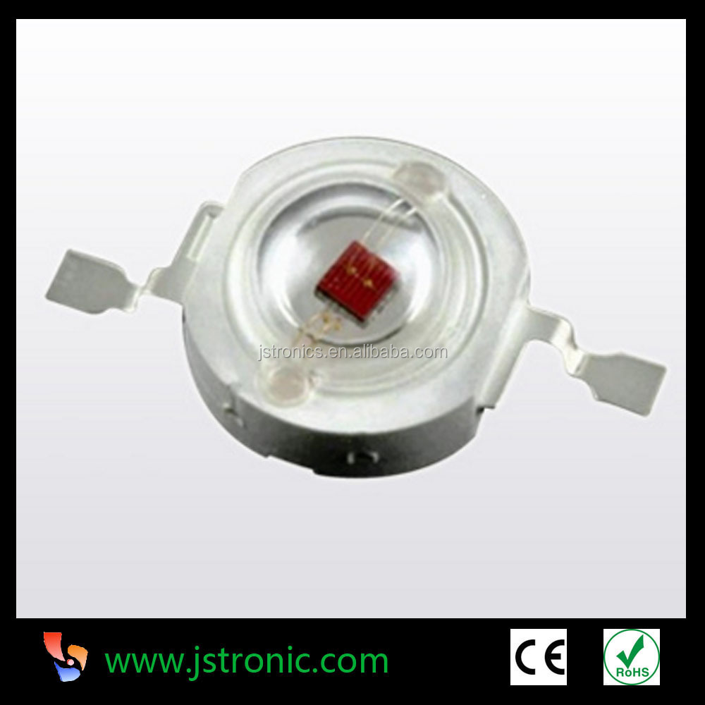 1w red high power led diode used for led lights 30mil epileds 1 watt 620-625nm led