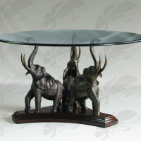 Metal crafts home decoration bronze elephant dining table