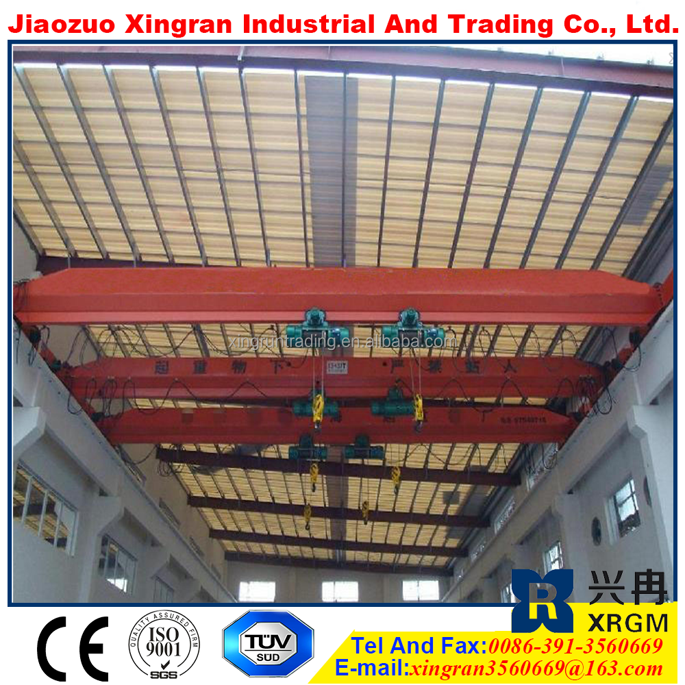 overhead crane load and unload trolley hoist crane single girder eot cranes