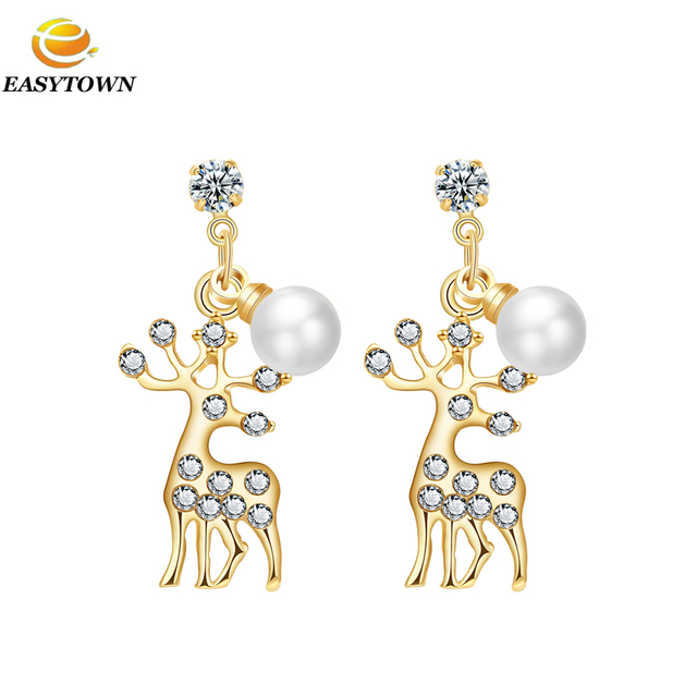 2016 new fashion fake gold plated stud earrings for women