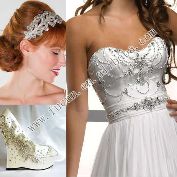Sash rose gold party Dress bridal Rhinestone Applique