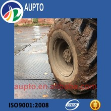 HDPE temporary ground protection road mats for portable roadway plates