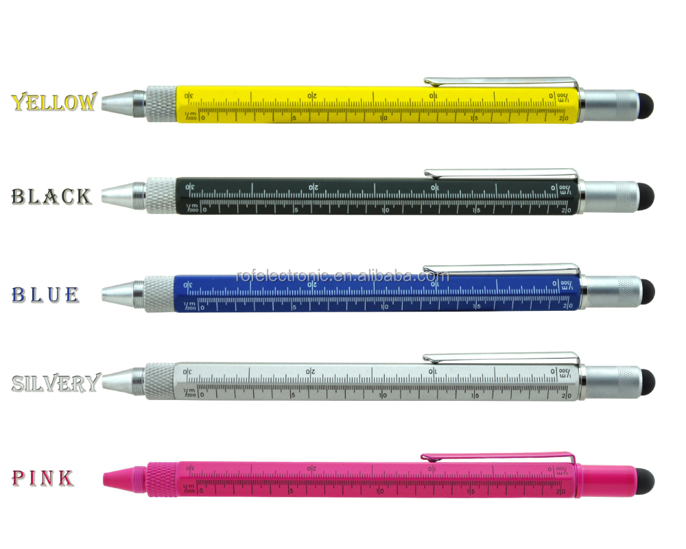 2015 newest 6 in 1multifunctional tool pen with ruler