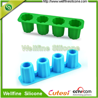 Ice Cream Tools Type and Eco-Friendly Feature Silicone cup shape Ice Cube Tray for Football Fans & Game Day