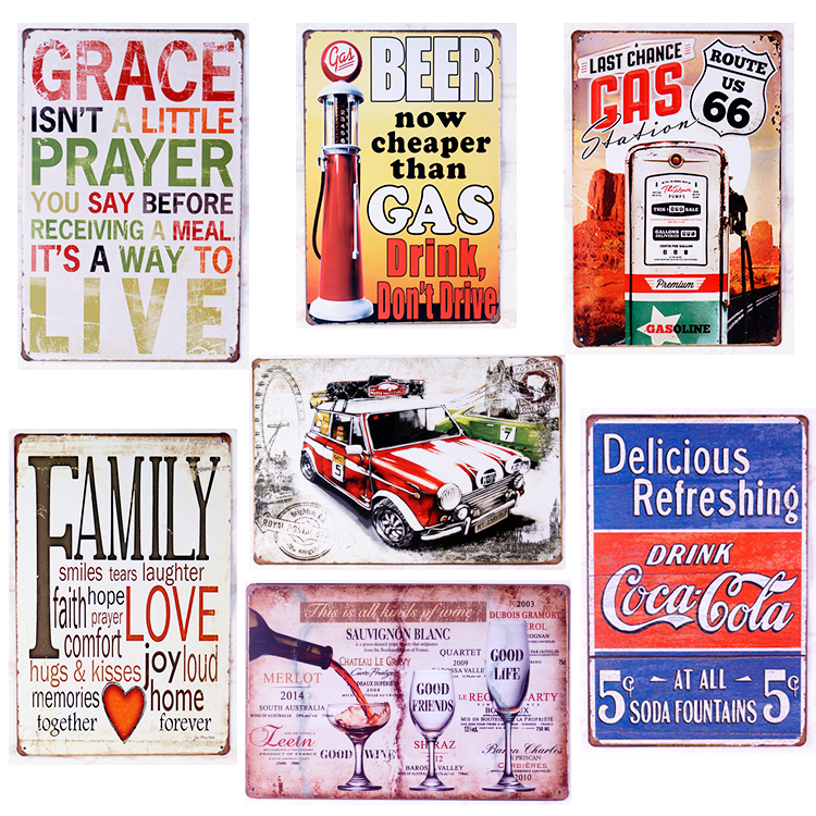 metal tin sign bar signs vintage signs