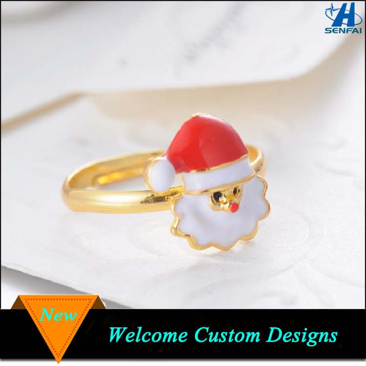 Latest Gold Finger Ring Designs Lovely Adjustable Christmas Santa Claus Ring