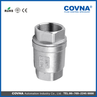 High Quality sandwich 2Pc Spring Vertical stainless steel Check Valve