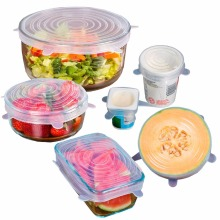 Good Quality Various Sizes Flexible As Seen On Tv Reusable Silicone Stretch lids For Covers Fresh Food