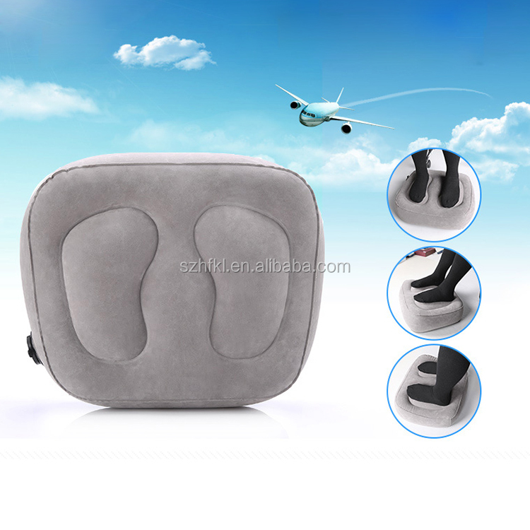 new design train travel leg elevate inflatable airline leg rest pillow