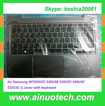 Laptop US Keyboard with Case for Samsung np530u3c palmrest C cover with keyboard English language