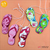 Best quality and hot sell slippers shaped promotion gift paper car air freshener