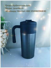 Hot Sale 2016 new design 450ml double wall thermos cofffee mug with handle