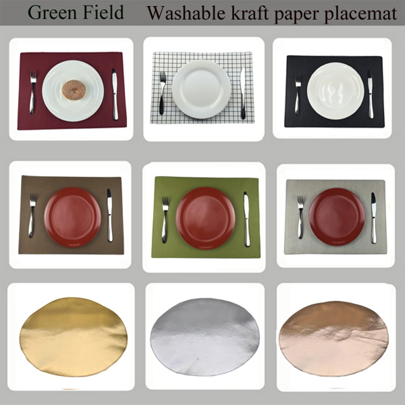 Square Washable Kraft paper placemat white Washable Kraft paper placemat