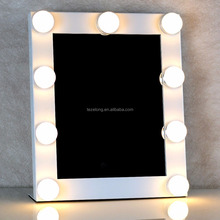 2017 Hot Newest Table Top Lighted Beauty LED Hollywood Vanity Makeup Mirror with Lights Bulbs
