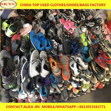 Dongguan warehouse sorted bright colored second hand shoes mixed gender big size men sports used shoes hot sale in Africa market