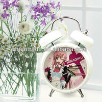 Bell alarm clock/Music twin Electronic Metal Cartoon Retro Bell Alarm Clock