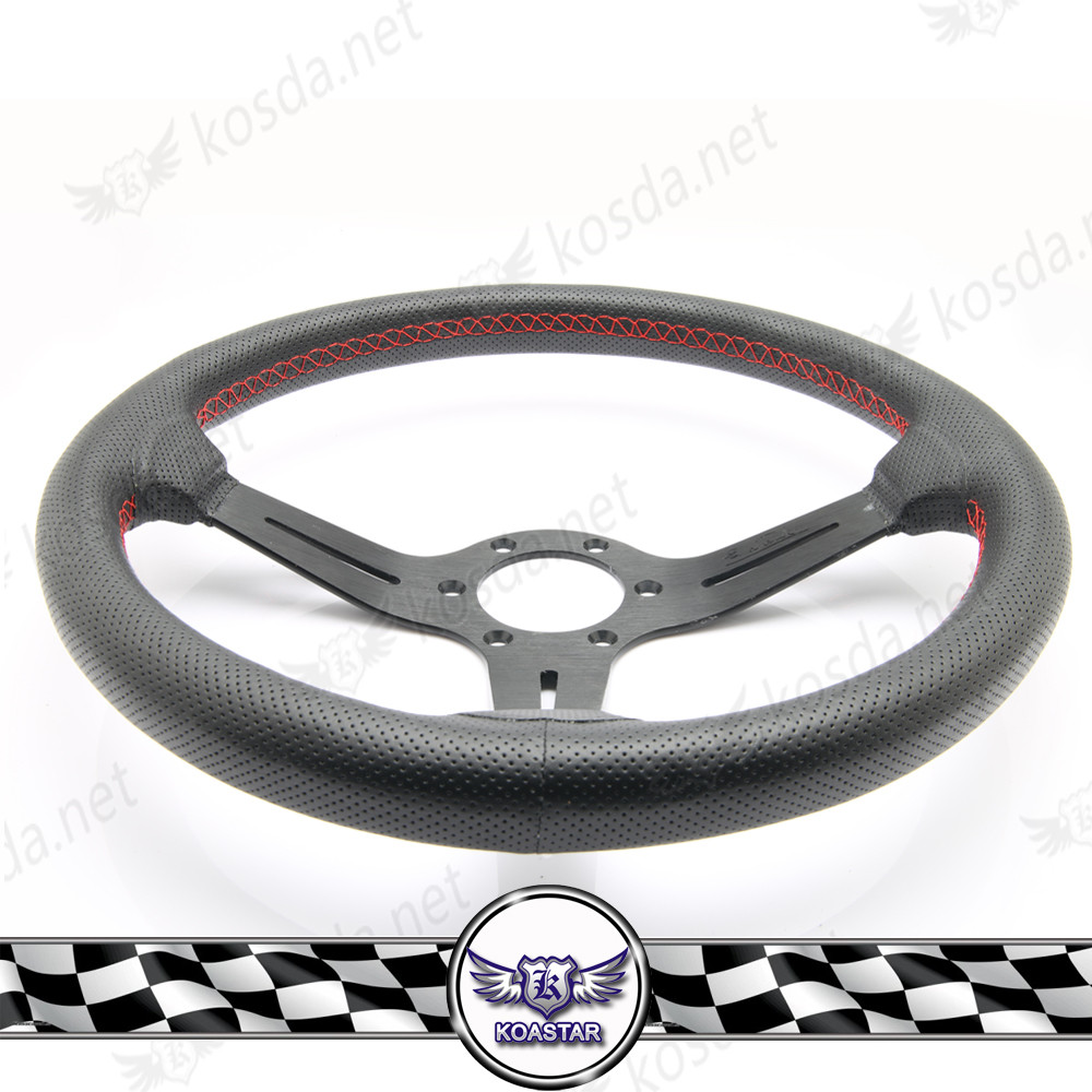rally racing steering wheel leather classic , automotive accessories leather steering wheel 350 mm ,
