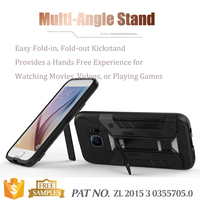 Kick stand card holder mobile phone cases for galaxy s7