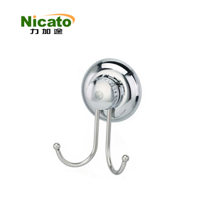 stainless steel vacuum suction cup hook, single bath towel hook,wall hook for sale