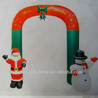 christmas decorations arch lovely santa and snowman