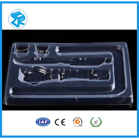 Custom clear slide blister packaging tray fishing lures blister packs