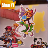 Fancy custom cartoon characters sticker for wholesale
