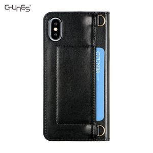 C&T Chain Shoulder Strap PU Leather Crossbody Cell Phone Case Wallet Folding Cover for Apple iPhone 6 / 6s