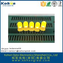 Favorable price and High Power LED 5mm round yellow diffused LED diode