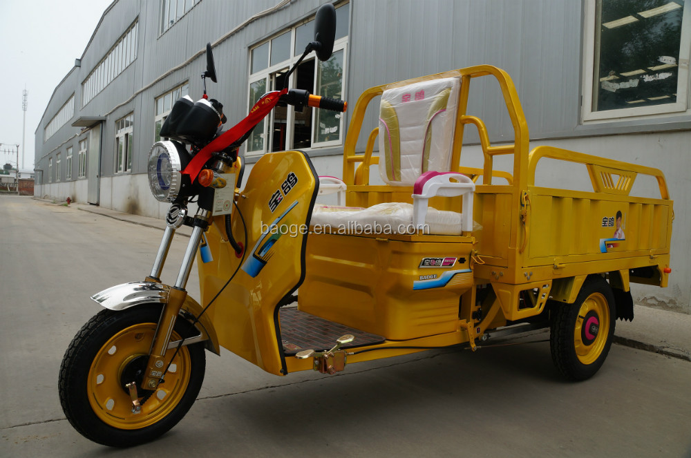 Cargo Electric tricycle with passenger seat standing for sale