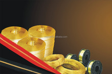 Copper zinc alloy H65 brass flat wires used for metal zipper