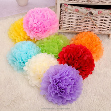 wholesale cheap artificial tissue paper pom poms flower ball