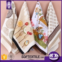 kitchen textile plain white cotton tea towel wholesale (many designs for choose)