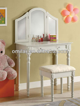 Dressing table make up wood mirror