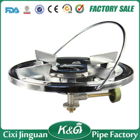 Super blue flame safety mini protable cast iron gas stove for camping kitchen appliances stove