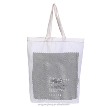Travel personalized washable canvas cotton tote bag for shopping