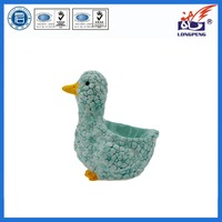 Cute Animal duck design egg cup holders wholesale,ceramic duck egg holders