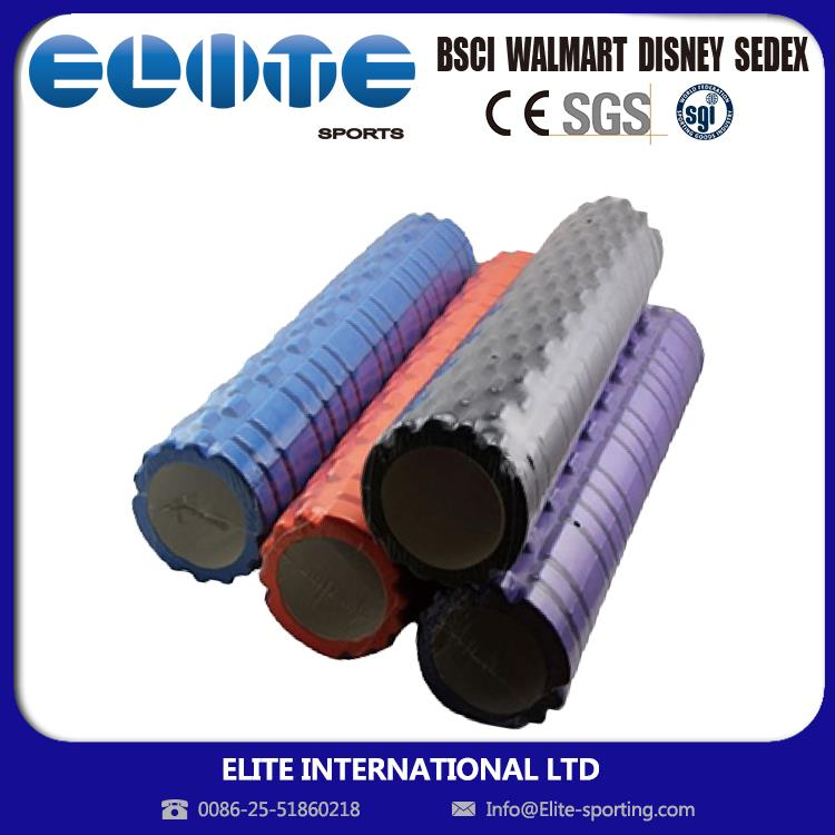 ELITE-Low MOQ Promotional Logo Printed eva yoga foam roller gear textured